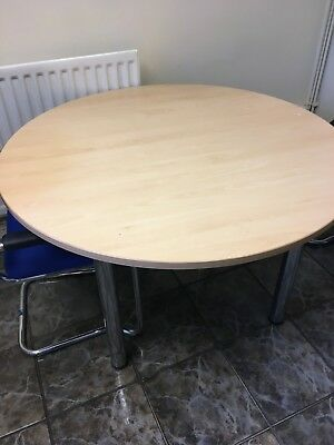 Wooden round office table