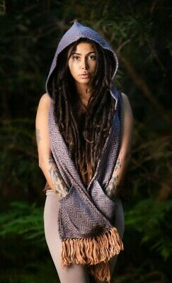Neptune Tribe Hoodie Scarf with Pockets - Festival Clothing Hooded Cowl