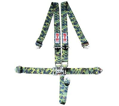 STR SFI Approved 5 Point Racing Safety Harness Belt NASCAR Buckle F2 F1 - Camo
