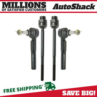 New Front Set of (4) Outer & Inner Tie Rod Ends fits Chevrolet Pontiac Saturn