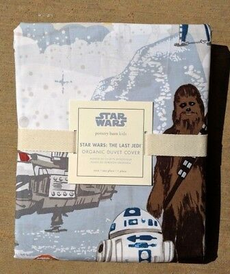 POTTERY BARN KIDS ~ STAR WARS ~ THE LAST JEDI TWIN or FULL / QUEEN DUVET COVER