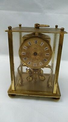 KERN Four Glass Anniversary Mantle Clock  400 Day Lantern Carriage Clock Germany