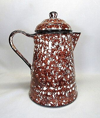Stangl Pottery .. Town And Country Brown .. 4 Cup Short Spout Coffee Pot