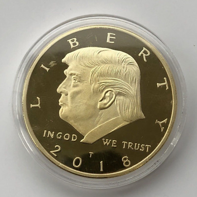 2018 US President Donald Trump Commemorative Collection Gold Coin AA1
