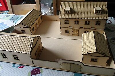 28mm LARGE Walled farm including House/Barn/Shed/Stables WW2 Fantasy Historical