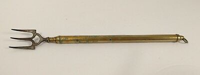 Antique Double Telescopic Brass Toasting Fork Circa 1870