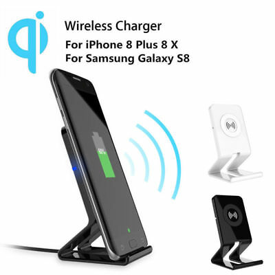 QI Standard Fast Wireless Charging Charger Stand For Samsung Note 9 S9 iPhone X