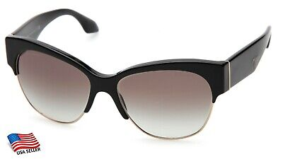 481c90cb1 NEW PRADA SPR 11R 1AB-0A7 BLACK / GREY GRADIENT SUNGLASSES 56-16-140 ...