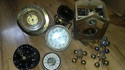Vintage Various Clocks parts good lot spares repair