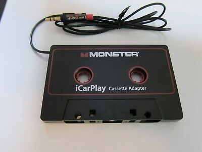 Monster iCarPlay Cassette Tape Adapter for Car for iPod, iPhone, Android
