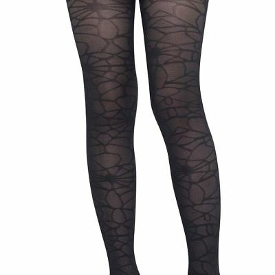 Kids Girls Black Spider Web Witch Hosiery Tights Halloween Costume Accessory