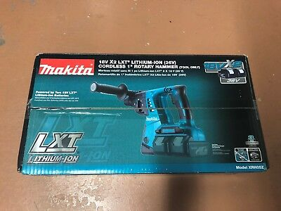 """Makita XRH05Z 18V X2 LXT Lithium-Ion 36V Cordless 1"""" Rotary Hammer Tool Only New"""