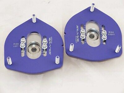 MINI Cooper R55 R56 R60 Silver Project Adjustable Top Mount Camber Plates BLUE