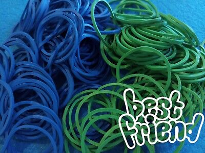 100 pcs Super Strong Office Multi-purpose Blue & Green Elastic Rubber Bands