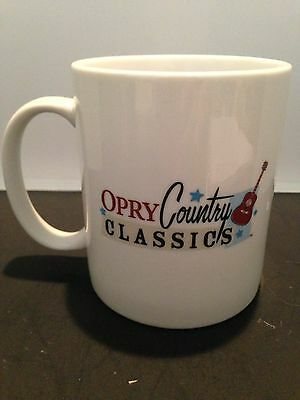 Opry Country Classics Coffee  Cup Great Mellow Blue Stars And A Nice Guitar