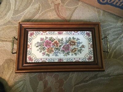 Floral Fruit Design Tilecrafts Victorian Tea Tray- Made in Staffordshire England