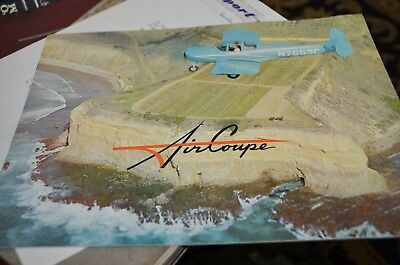 Vintage 1961 Aircoupe Sales Brochure Airplane 60's Original Private Aircraft