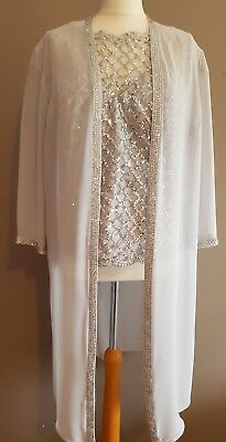 Silver Veni Infantino Mother Of The Bride/groom Outfit Size:22