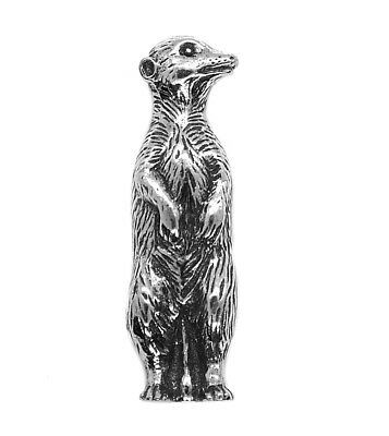 Swimming Otter Pin Badge Brooch Country Life Silvery Made in UK