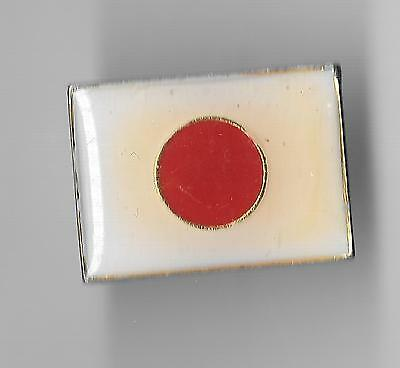 Vintage Flag of Japan small old enamel pin