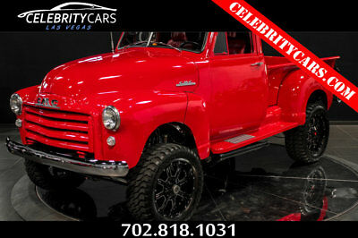 GMC 3100 resto mod stepside lifted 4x4 1951 GM 3100 Stepside 4x4 Truck lifted RestoMod Las Vegas Red MUST SEE
