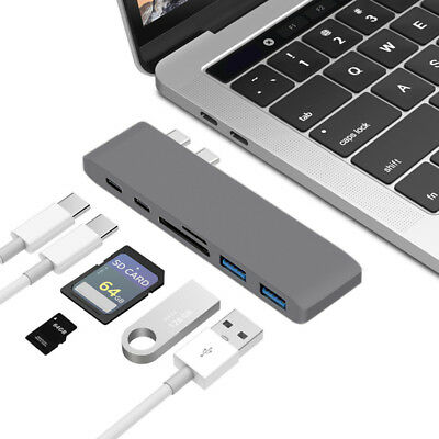 7in1 USB-C Hub Type-C SD Adapter Charging & reader For Macbook Pro Mac PC Laptop