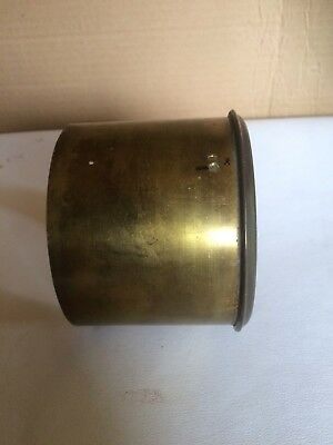 French Drum Clock Movement Brass Cover