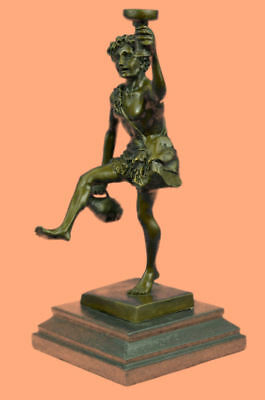 Nude Male Bronze Statue Greek Dionysus Bacchus God of Wine. signed: Schaffert