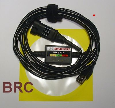 BRC SEQUENT 24,32,56,Plug&Drive Fast LPG GPL Diagnose Kabel USB INTERFACE+Softw.