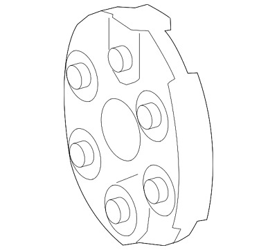 Genuine Mercedes-Benz Flex Coupling 210-411-04-15