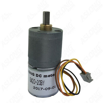 DC24V GM20-20BY Stepper Motor 2-Phase 4-Wire Stepping Motor Micro DC Gear Motor