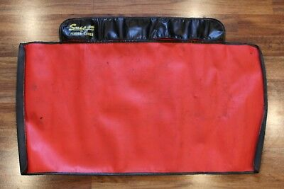 "Vintage Snap On CK-6A Fender Cover Red & Black 42"" x 26"" Old Car Decor"