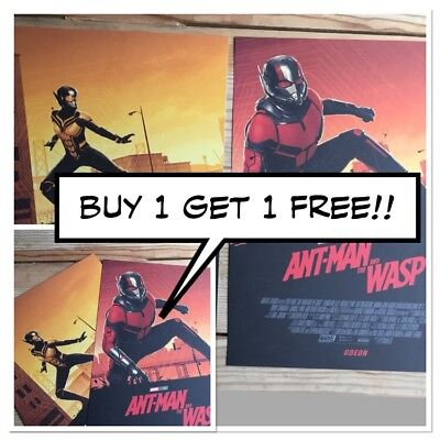 Ant Man and the Wasp Odeon EXCLUSIVE A4 posters X2 *PLUS FREE DUPLICATE SET*!!!!