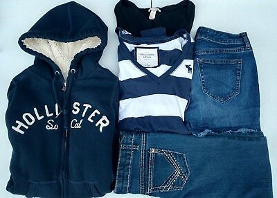 Junior Girls Clothes Mixed Lot Shorts Abercrombie Hoodie Jeans Long Sleeve Top