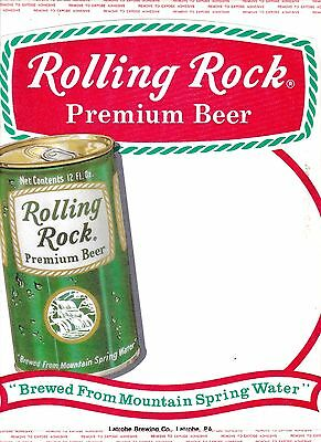 5 Same Rolling Rock Beer Unused Store Display Window Decals Beer Can Latrobe PA