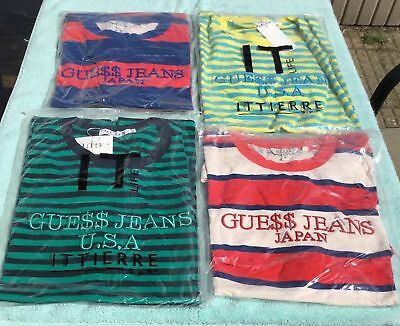 Guess Asap Rocky T Shirt Red/White-Navy/Red-Navy/Green-Yellow/Blue