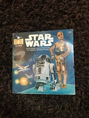 Star Wars  33 1/3 RPM Read-along books and records