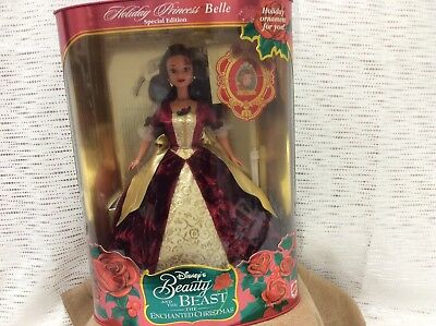 Disney holiday princess beauty and the beast belle doll NIB