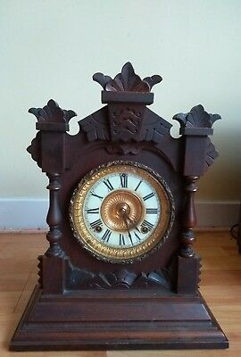 Antique/ Vintage  American Mantel Clock By Ansonia* Appears To Be Working* 1882