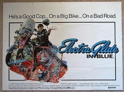 Electra Glide In Blue Orig 1973 B-Quad Movie Poster Fld Robert Blake Ex