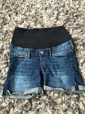 H&M Mama Maternity Denim Shorts Size 8