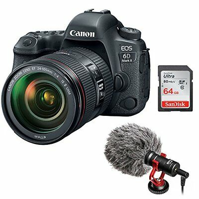 Canon EOS 6D Mark II DSLR Camera with EF 24-105mm f/4L IS II USM Lens Bundle