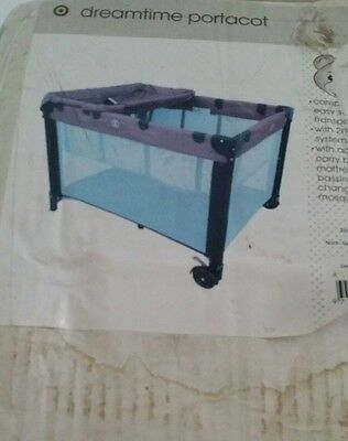 NEW Childcare Trio 3 In 1 Baby Portable Travel Cot Portacot