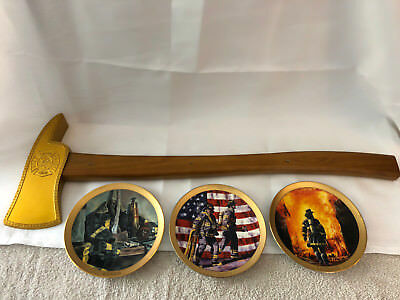 Firefighter fire axe wall display
