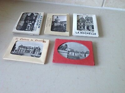 Five Early Packets Of French Photos From Early Touring Days.