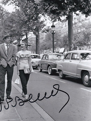 Jean Paul BELMONDO (1933) orig. sign.1950s BREATHLESS photo 20x20 cm / autograph