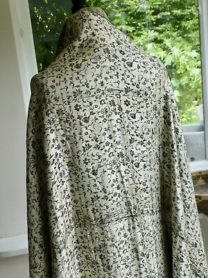 Antique vintage Chinese oriental woven jacquard silk shawl - faults