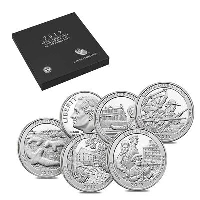 2017 S US Mint Limited Edition Silver Proof 6-Coin Set ASW 0.98 oz w/Box and COA