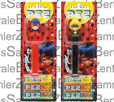PEZ - MIRACULOUS 2018 - set of 2, Mint on Card !!!!!!