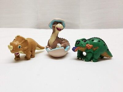 Vintage 1988 The Land Before Time Cera Spike Little Foot PVC Amblin Figures Toys